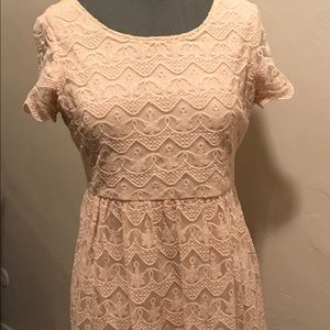 Baby pink lace Forever 21 mini dress